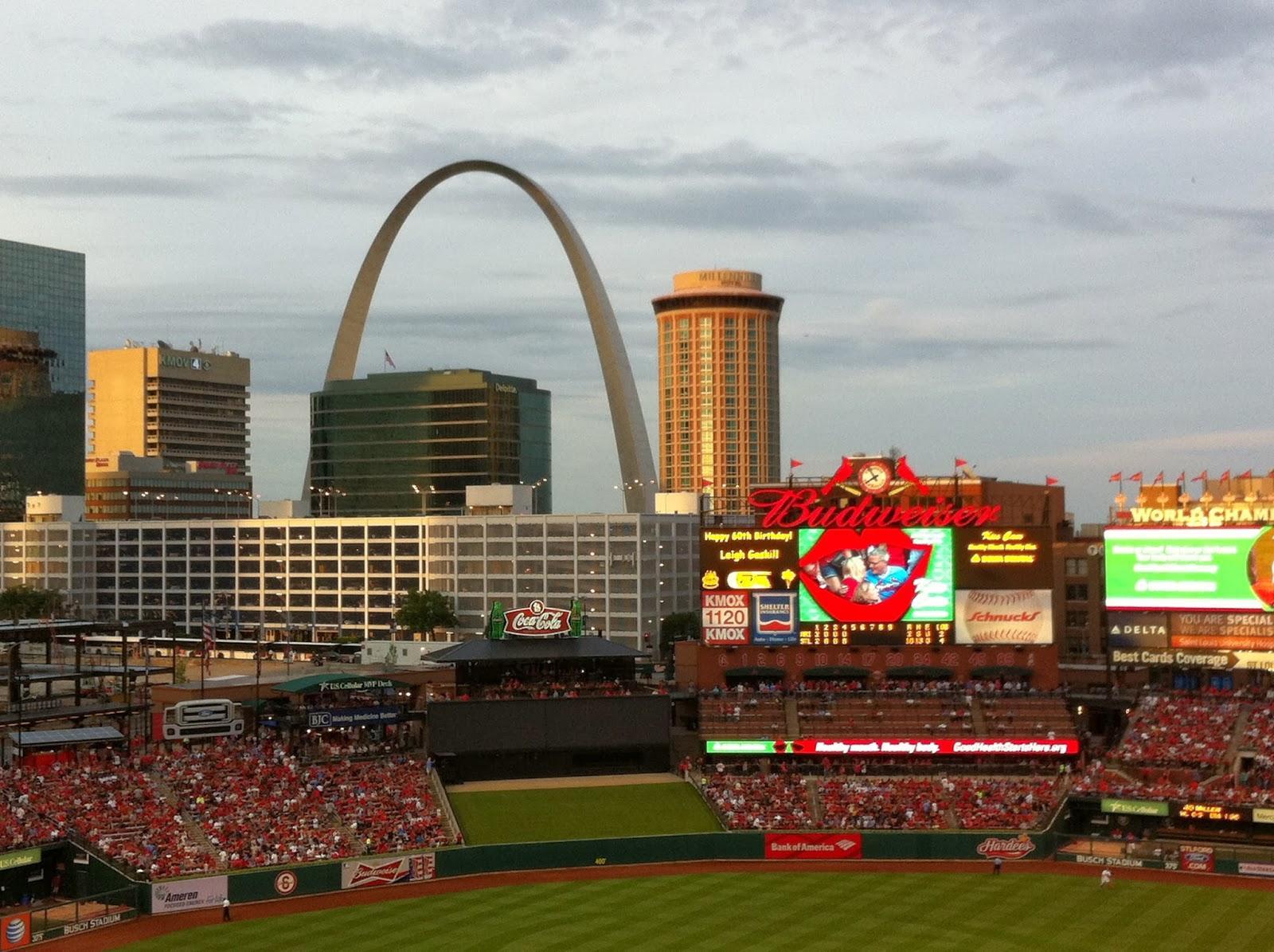The Arch from Upper Level - Busch Stadium - St. Louis